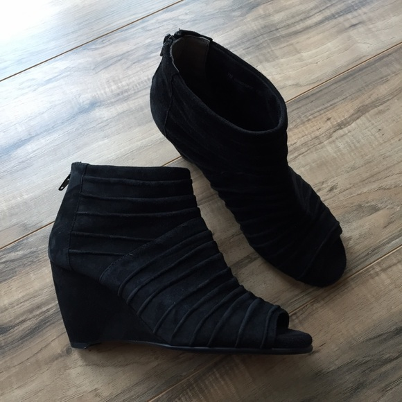 AEROSOLES Shoes | Peep Toe Wedge Bootie
